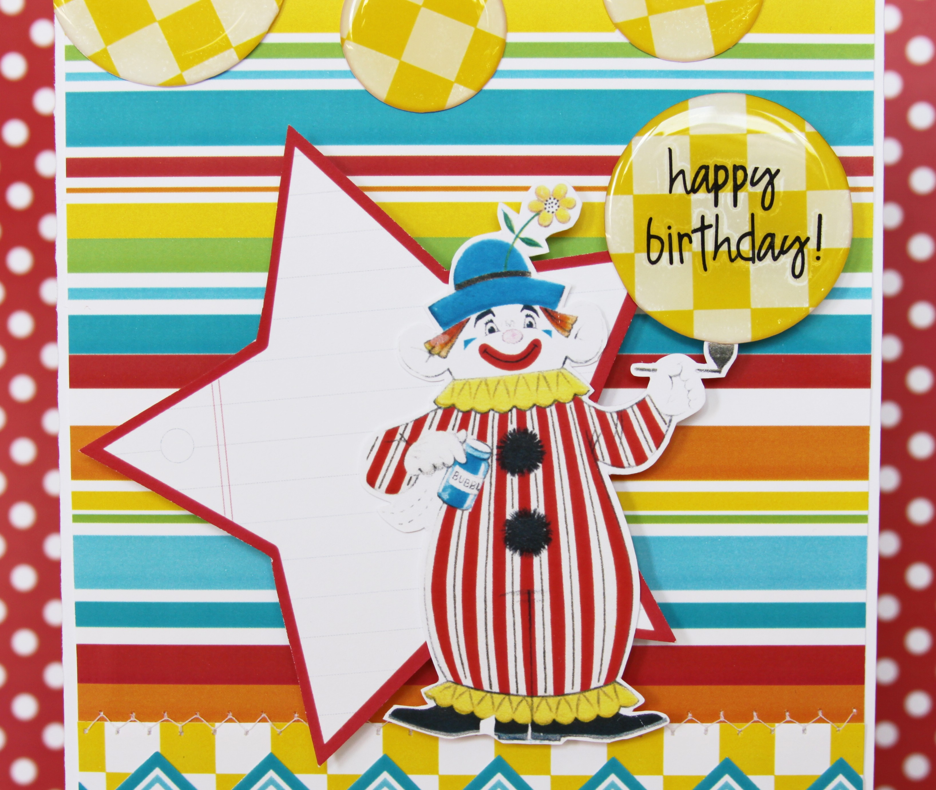 Happy Birthday Clown Card – Clown Birthday Cards