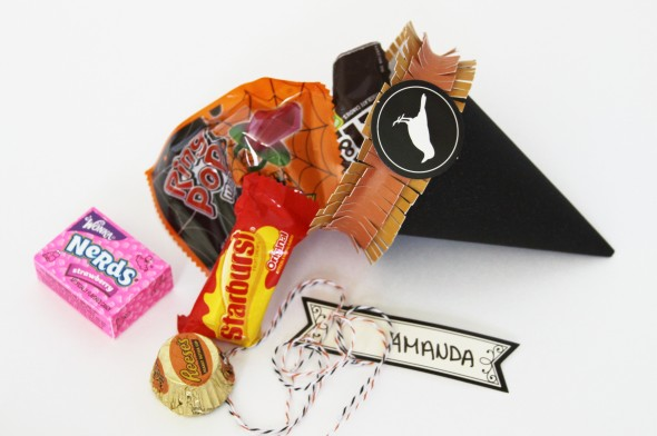 Witch Hat Placecards/Treat Bags