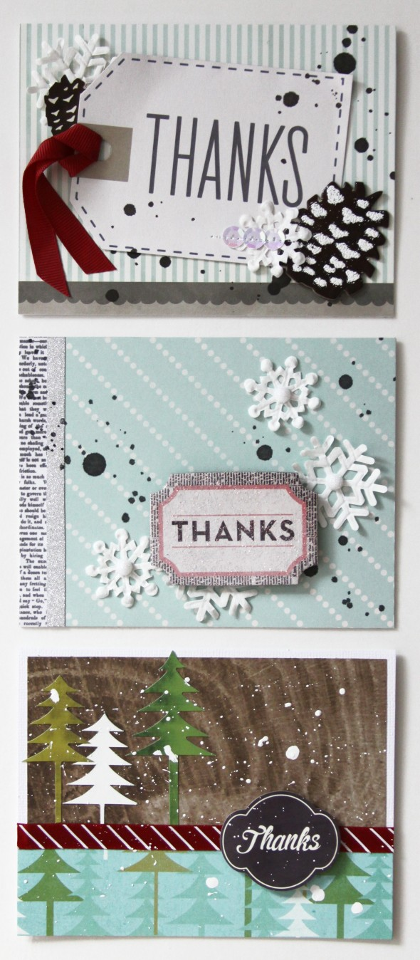 Winter Thank You Cards