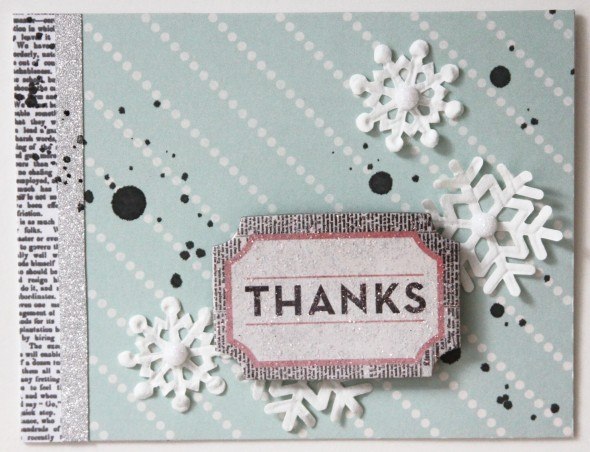 Snowflakes Thanks Card
