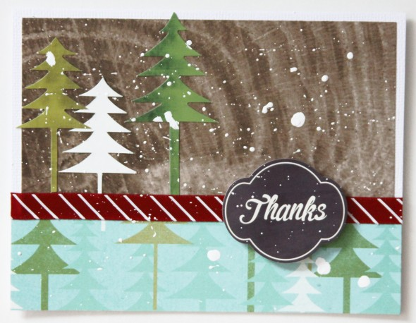 Winter Forest Thanks Card