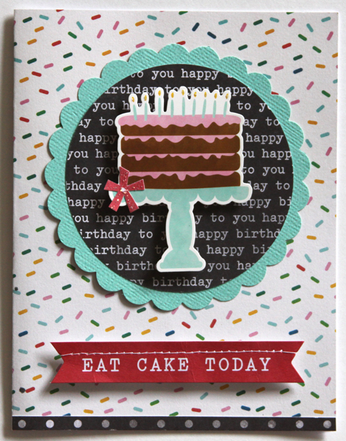 Eat Cake Today Card