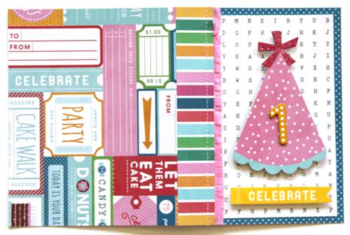 """Celebrate """"1"""" Card - full"""