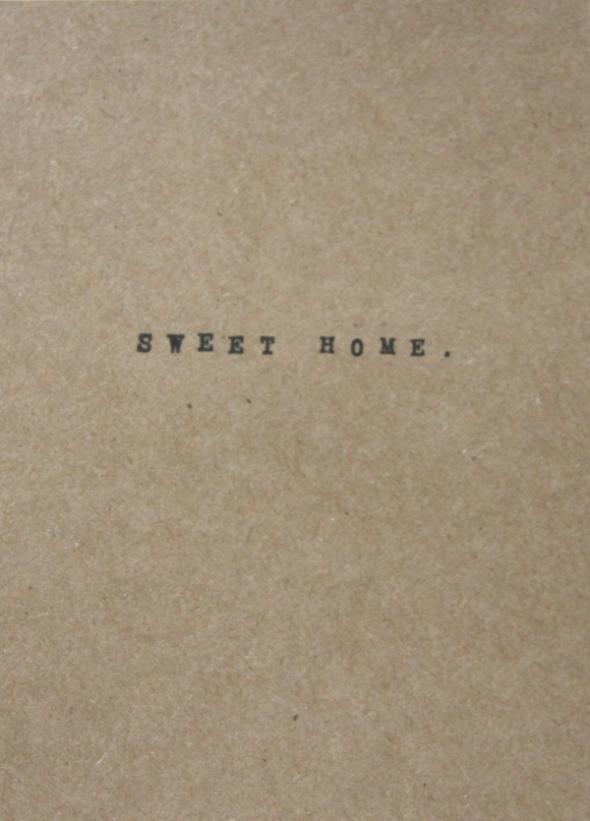 Home Sweet Home Card - Inside
